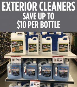 Sale on outdoor cleaners